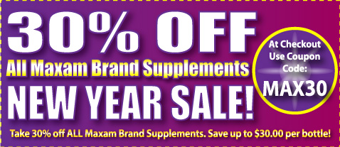 Maxam 30 percent off sale